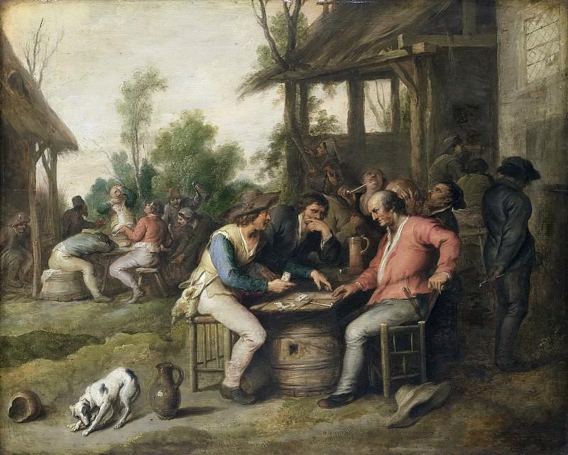 Adriaenssen, Vincent -- Kaartende boeren bij een herberg, 1623-1650. Rijksmuseum: part 2