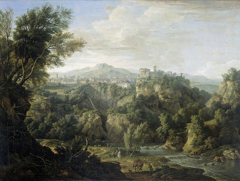 Moucheron, Isaac de -- Gezicht op Tivoli, 1725. Rijksmuseum: part 2