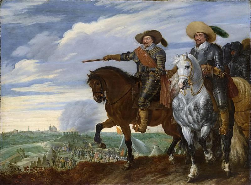 Паувельс ван Хиллегарт -- Принц Фредерик Хендрик и граф Эрнст Казимир у Хертогенбоса во время его осады в 1629 г., 1629-35. Рейксмузеум: часть 2