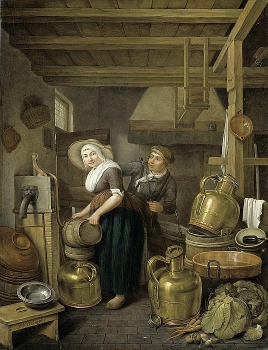Хендрик ван дер Бург -- После дойки, 1825-1827. Рейксмузеум: часть 2