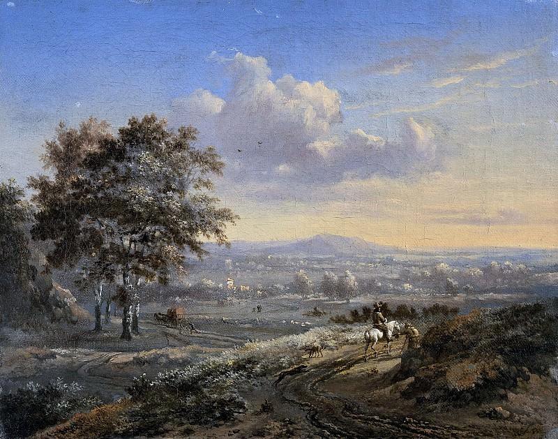 Wijnants, Jan -- Heuvelachtig landschap met een ruiter op een landweg, 1655-1684. Rijksmuseum: part 2