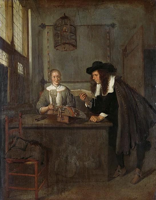 Brekelenkam, Quiringh Gerritsz. van -- De voorlezer., 1650-1668. Rijksmuseum: part 2