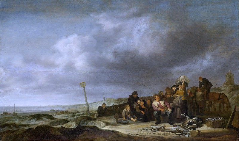 Vlieger, Simon de -- Strand met vissers, 1630-1653. Rijksmuseum: part 2