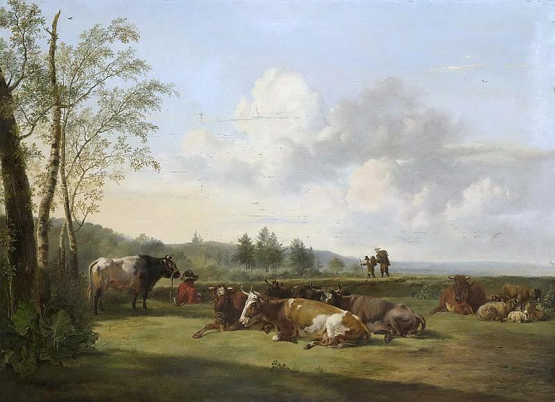 Os, Pieter Gerardus van -- Landschap met vee, 1816. Rijksmuseum: part 2