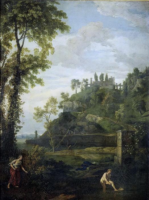 Glauber, Johannes -- Arcadisch landschap met Salmacis en Hermaphroditus, 1680-1726. Rijksmuseum: part 2
