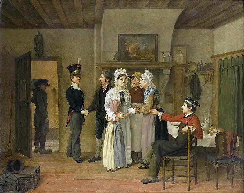 Beveren, Charles van -- Het afscheid van de soldaat, 1828. Rijksmuseum: part 2