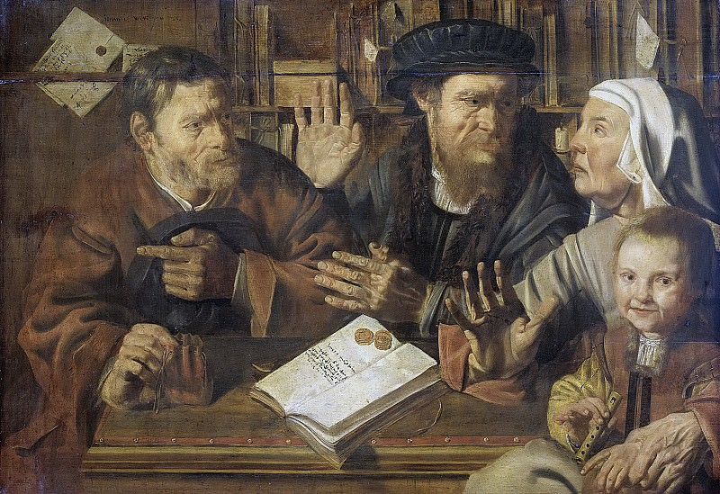 Stap, Jan Woutersz. -- Het kantoor van de notaris, 1629. Rijksmuseum: part 2