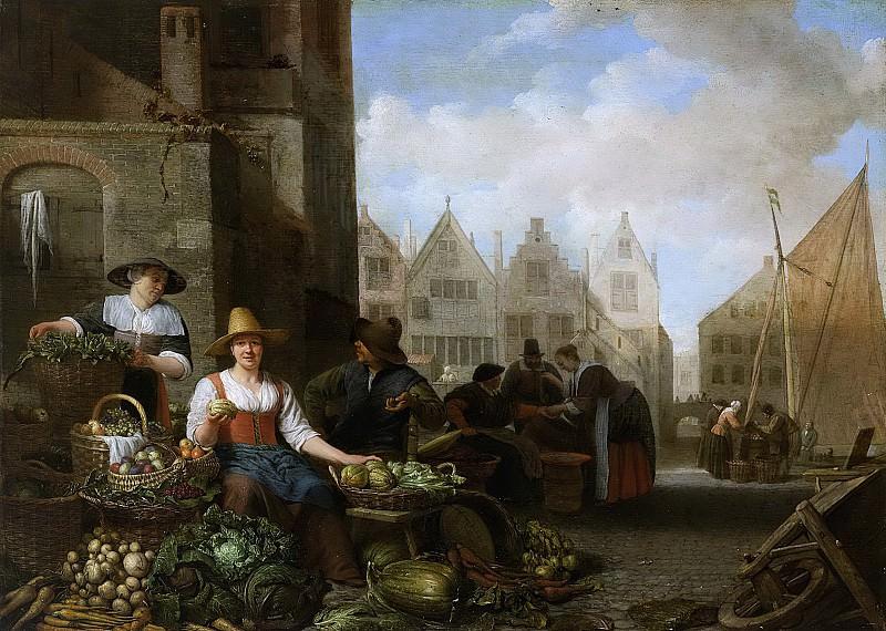 Sorgh, Hendrick Martensz. -- De groentemarkt, 1662. Rijksmuseum: part 2