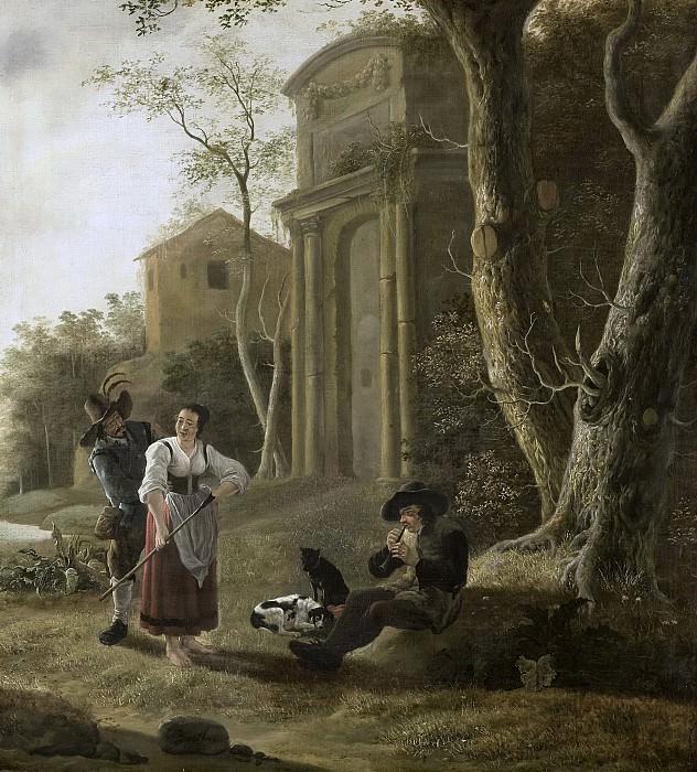 Wolfaerts, Jan Baptist -- Herderstafereel met een schalmeispeler, 1646. Rijksmuseum: part 2