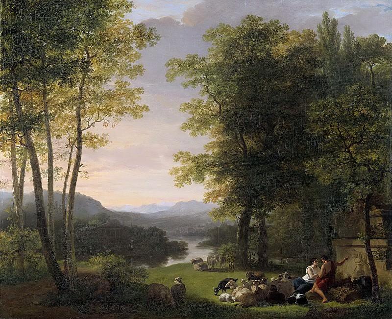 Pieneman, Jan Willem -- Arcadisch landschap, 1813. Rijksmuseum: part 2