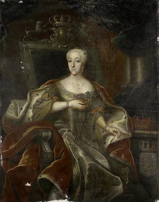 Unknown artist -- Charlotte Amalie (1706-82). Dochter van Frederik IV, koning van Denemarken, 1755-1765. Rijksmuseum: part 2