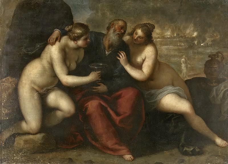 Джакомо Пальма, Мл. -- Лот и его дочери, 1610-1620 (картина) — Рейксмузеум: часть 2