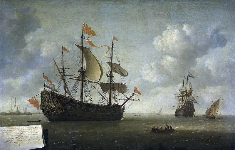 Иероним ван Дист (II) -- Захват английского адмиральского корабля «Король Карл», шедшего к Чатему в июне 1667 г., 1667-1672. Рейксмузеум: часть 2