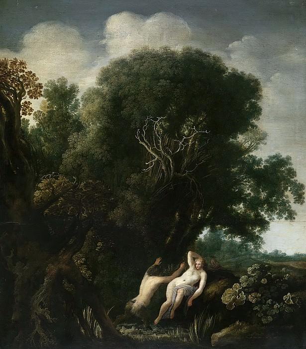 Wtenbrouck, Moyses van -- Een nimf verrast door een satyr tijdens het baden, 1630-1635. Rijksmuseum: part 2