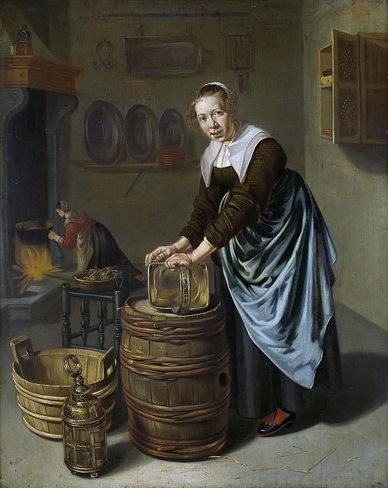 Виллем ван Одекеркен -- Женщина, моющая котелок, 1631-1677. Рейксмузеум: часть 2