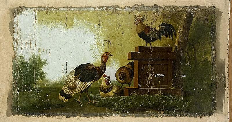 Unknown artist -- Decoratiestuk met gevogelte, 1700-1799. Rijksmuseum: part 2