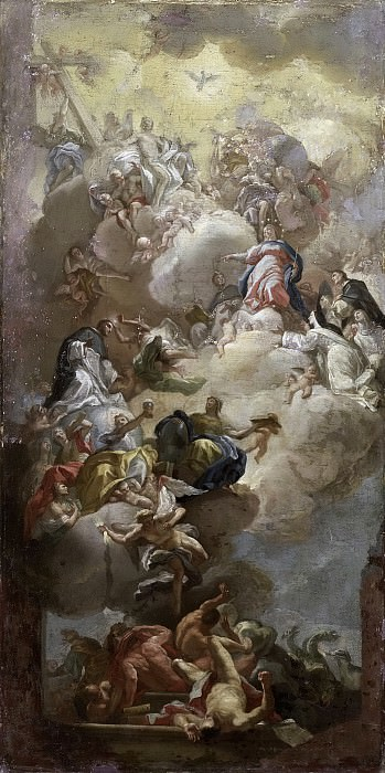Solimena, Francesco -- De verheerlijking van de heilige Dominicus, 1710-1785. Rijksmuseum: part 2