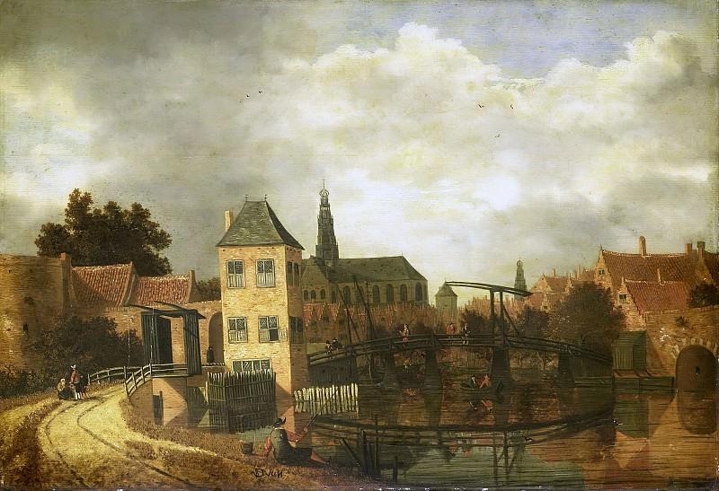 Veen, Balthasar van der -- Gezicht op de stad Haarlem over het Spaarne bij de Eendjespoort, 1650-1659. Rijksmuseum: part 2