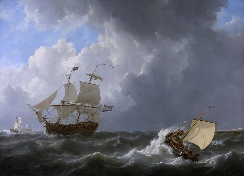 Schotel, Johannes Christiaan -- Schepen op een onstuimige zee, 1826. Rijksmuseum: part 2