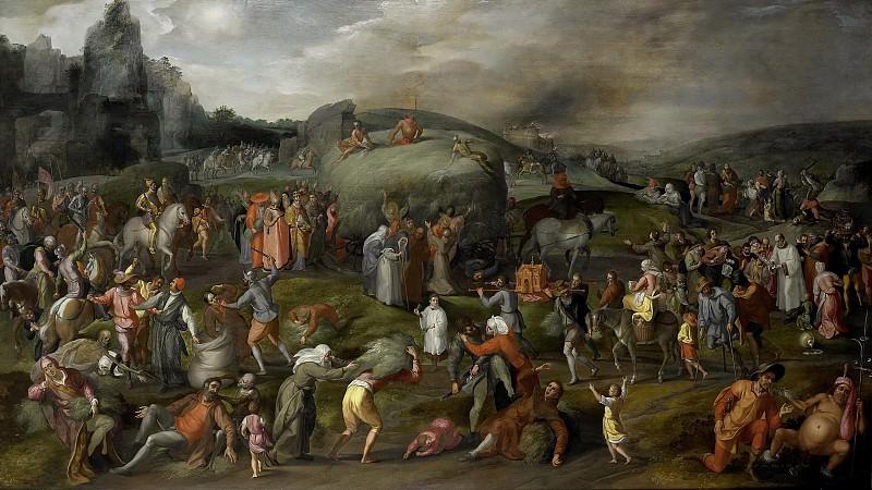 Mostaert, Gillis (I) -- Allegorie op de wereldlijke en geestelijke misbruiken, 1570-1580. Rijksmuseum: part 2