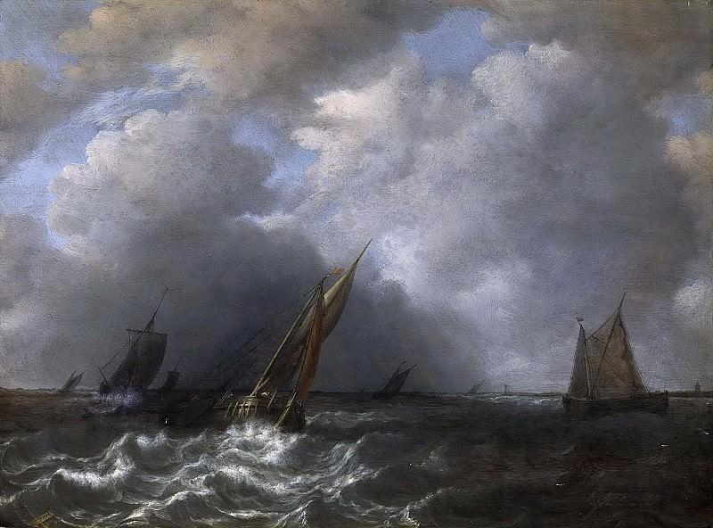 Sorgh, Hendrick Martensz. -- Storm op de Maas, 1668. Rijksmuseum: part 2