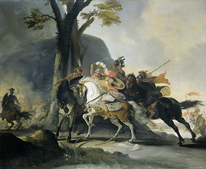 Troost, Cornelis -- Alexander de Grote in de slag tegen de Perzen bij de Granikos, 1737. Rijksmuseum: part 2
