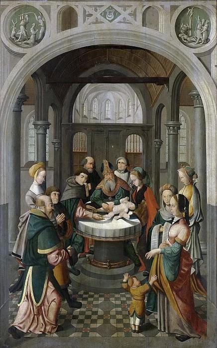Meester van Alkmaar -- Paneel van een altaarstuk met de besnijdenis (binnenzijde) en de opstanding (buitenzijde), 1520-1535. Rijksmuseum: part 2