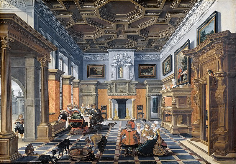 Bassen, Bartholomeus van -- Gezelschap in interieur, 1622-1624. Rijksmuseum: part 2