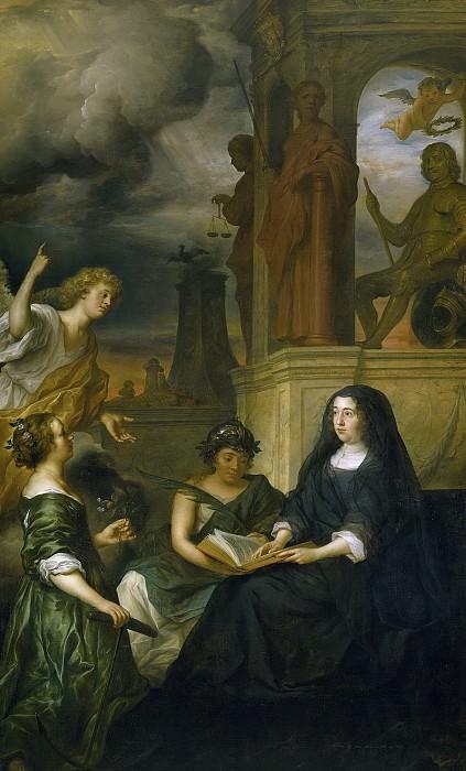 Говерт Флинк -- Аллегория памяти о Фредерике Хендрике, принце Оранском, с портретом его вдовы Амалии ван Сольмс, 1654. Рейксмузеум: часть 2