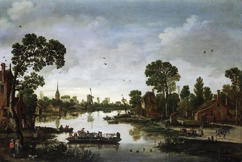 Velde, Esaias van de -- Het ponteveer, 1622. Rijksmuseum: part 2
