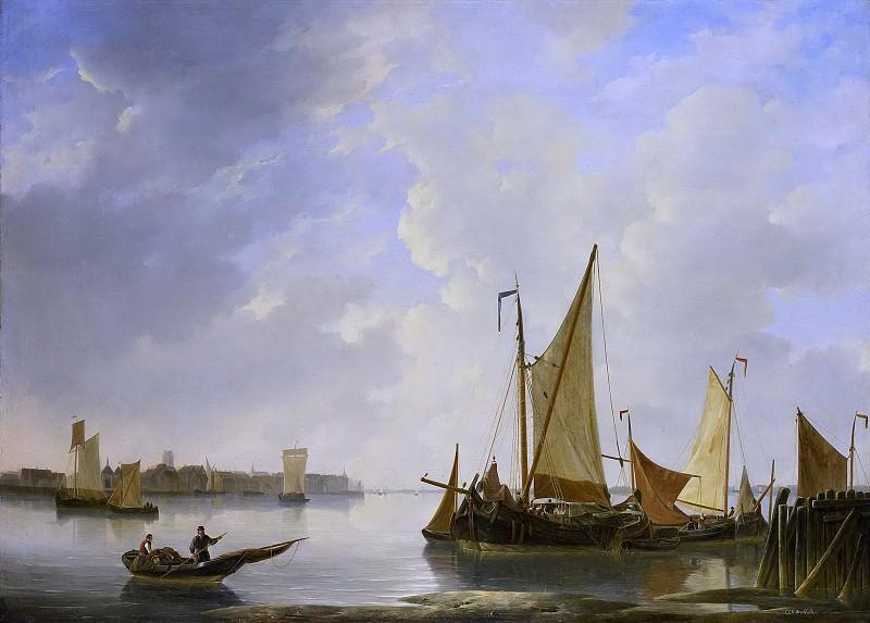 Dreibholtz, Christiaan Lodewijk Willem -- Gezicht op Dordrecht vanaf Papendrecht, 1830-1837. Rijksmuseum: part 2