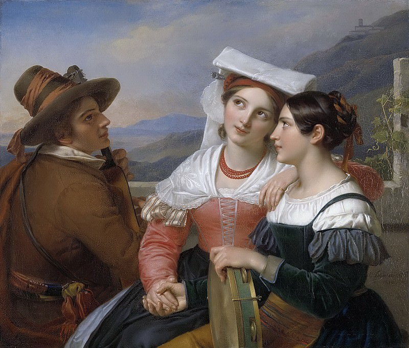 Kruseman, Cornelis -- Een van zin, 1830. Rijksmuseum: part 2