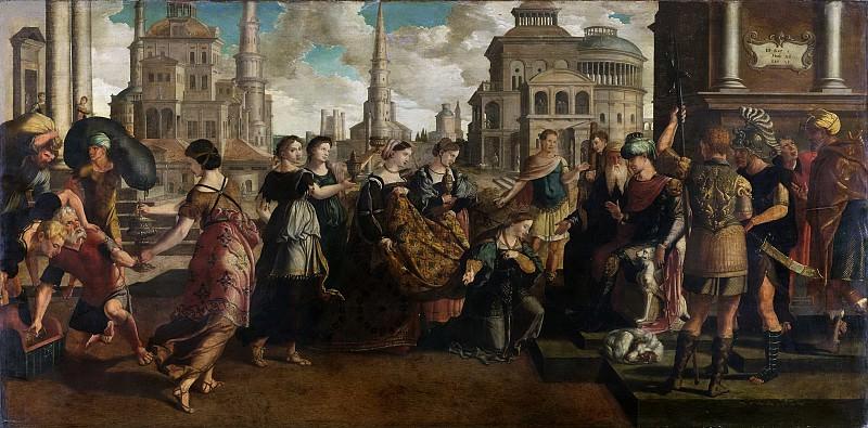 Scorel, Jan van -- Salomo en de koningin van Sheba, 1540-1545. Rijksmuseum: part 2