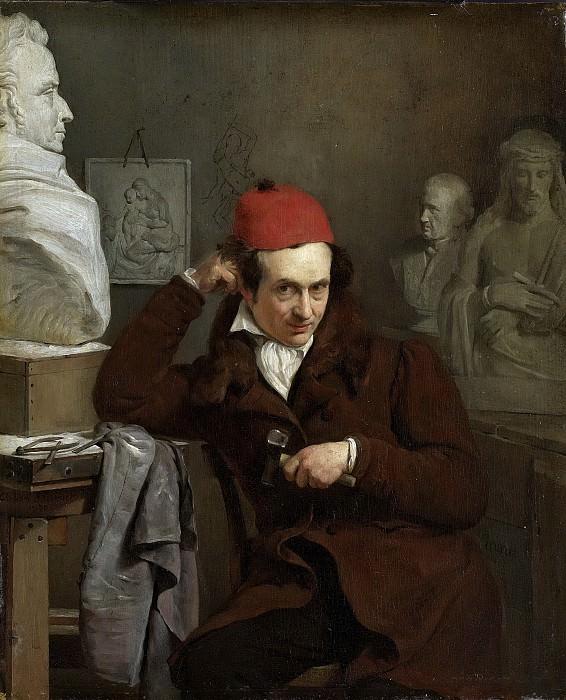 Карл ван Беверен -- Скульптор Луис Ройер (1793-1868), 1830. Рейксмузеум: часть 2