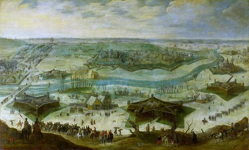 Петер Снайерс -- Осада города, предположительно Гулика, испанцами под началом Хендрика ван ден Берга с 5 сентября 1621 г. по 3 февраля 1622 г., 1622-1650. Рейксмузеум: часть 2