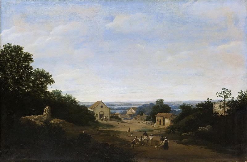 Post, Frans Jansz. -- Braziliaans landschap met het dorp Igaraçú. Links de Cosmas en Damianuskerk, 1659. Rijksmuseum: part 2