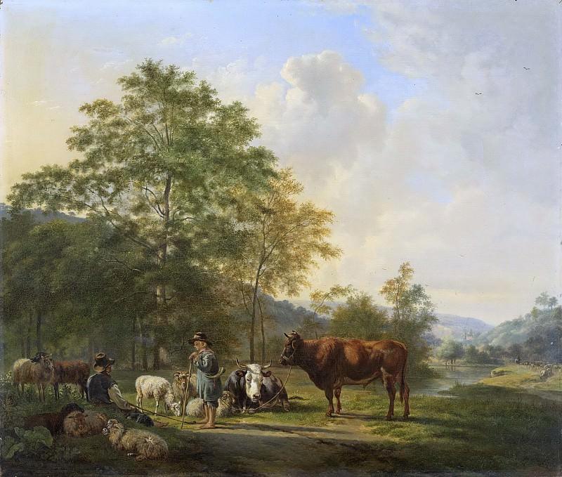 Os, Pieter Gerardus van -- Landschap met herder, bulleman en vee, 1815-1839. Rijksmuseum: part 2