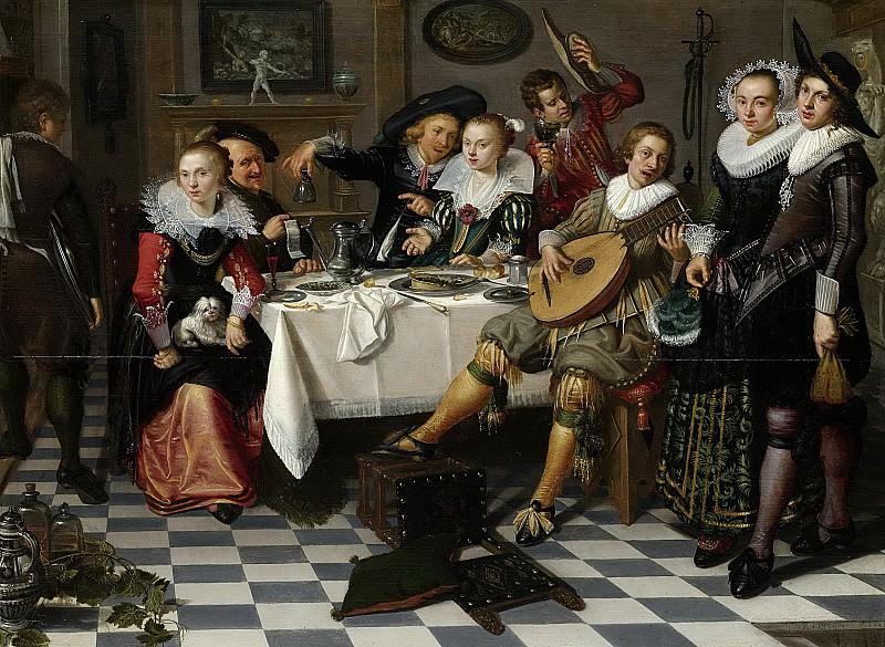 Elias, Isaac -- Feestvierend gezelschap, 1629. Rijksmuseum: part 2
