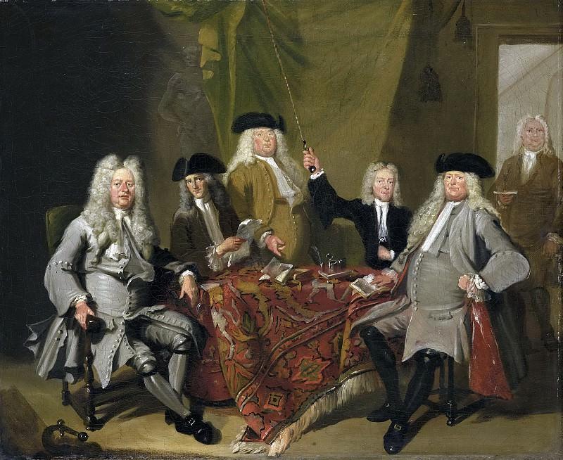 Troost, Cornelis -- De inspecteurs van het Collegium Medicum te Amsterdam, 1724, 1724. Rijksmuseum: part 2