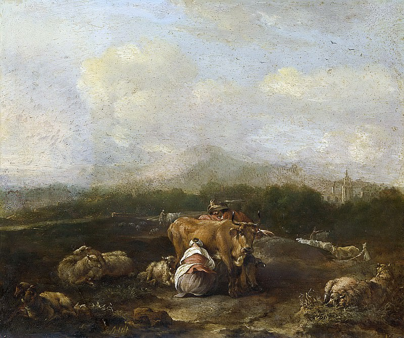 Helt Stockade, Nicolaes van -- Italiaans landschap met vee, 1640-1669. Rijksmuseum: part 2