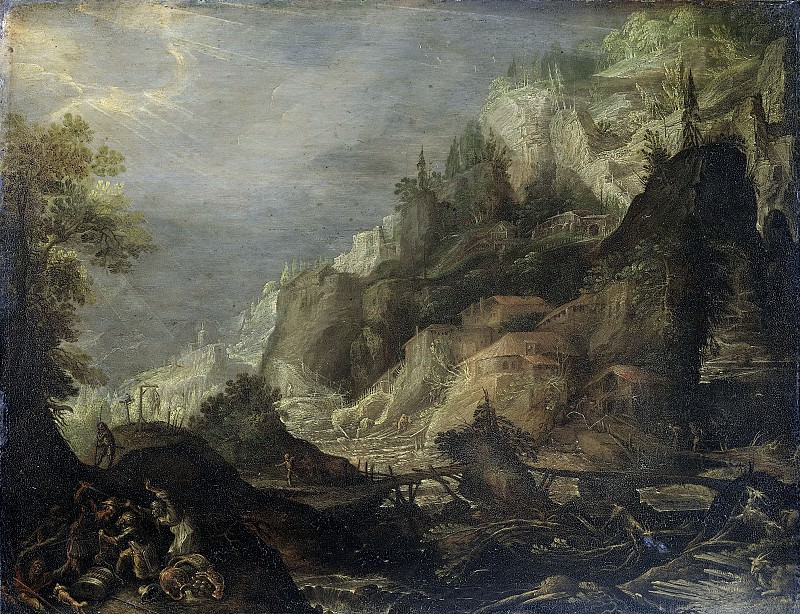 Valckenborch, Frederik van -- Bergachtig landschap, 1605. Rijksmuseum: part 2