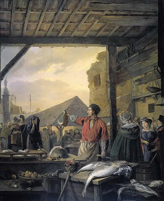 Игнаций Йозеф ван Регемортер -- Рыбный рынок в Антверпене, 1827. Рейксмузеум: часть 2