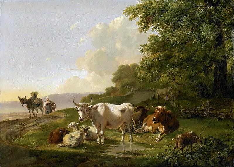Os, Pieter Gerardus van -- Landschap met vee, 1806. Rijksmuseum: part 2