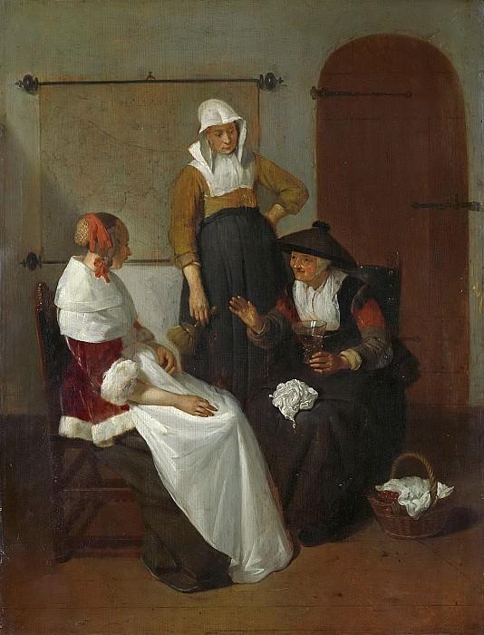 Квиринг Герритс ван Брекеленкам -- Доверительный разговор, 1661. Рейксмузеум: часть 2