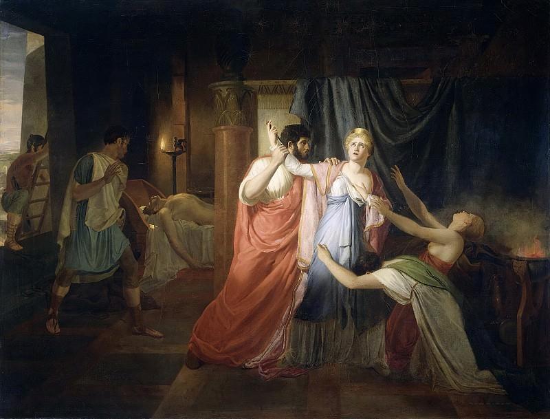 Alberti, Joannes Echarius Carolus -- Proculeius weerhoudt Cleopatra ervan zich te doorsteken, 1810. Rijksmuseum: part 2