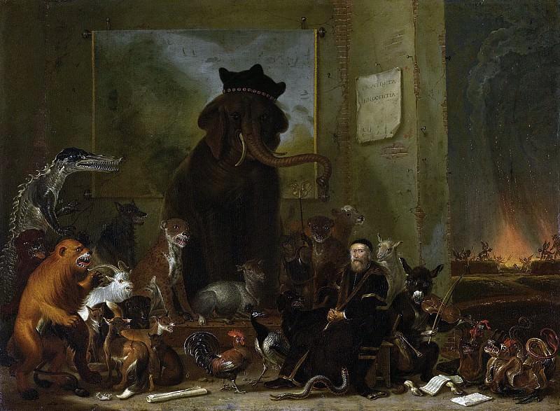 Saftleven, Cornelis -- Satire op de berechting van Johan van Oldenbarneveldt, 1663. Rijksmuseum: part 2