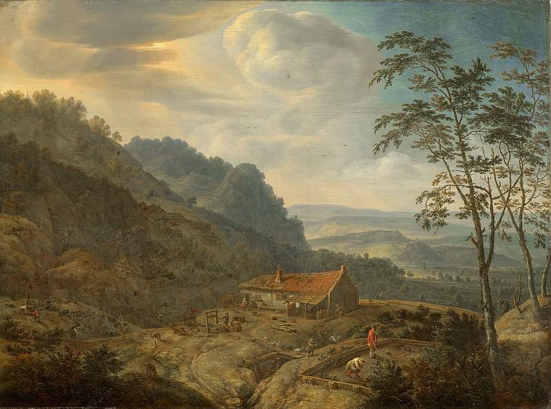 Saftleven, Herman -- Berglandschap met boerderij, 1663. Rijksmuseum: part 2