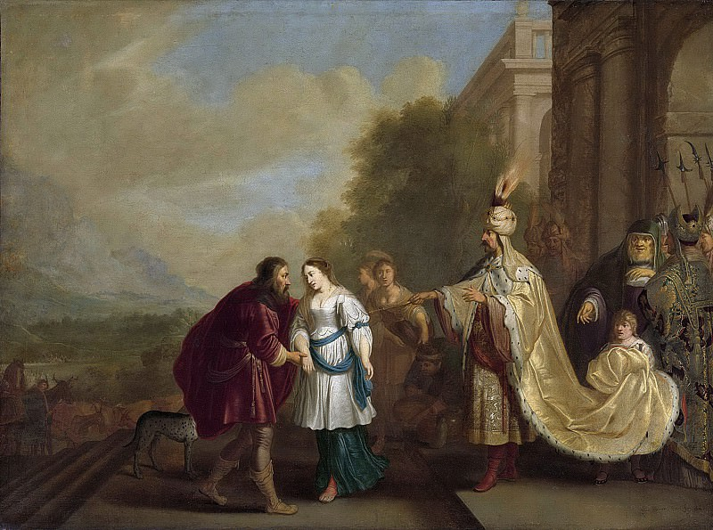Исаак Исаакс -- Фараон, возвращающий Сару Аврааму, 1640. Рейксмузеум: часть 2