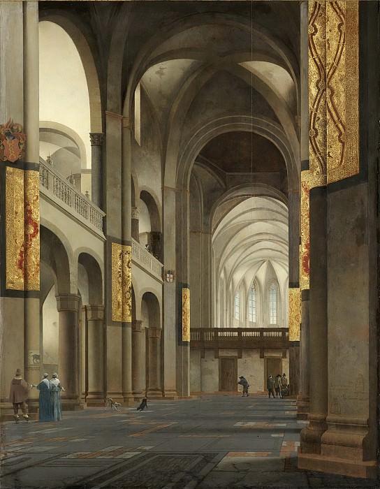 Saenredam, Pieter Jansz. -- Het middenschip en koor van de Mariakerk te Utrecht, gezien vanuit het westen, 1641-01-29. Rijksmuseum: part 2