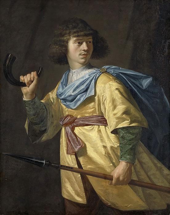 Danckerts de Rij, Peter -- Portret van een jonge man met spies en jachthoorn, 1635. Rijksmuseum: part 2